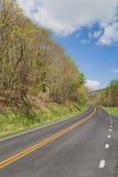 Взгляд дороги в горах в Вирджинии Стоковое Фото