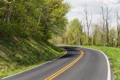 Взгляд дороги в горах в Вирджинии Стоковая Фотография