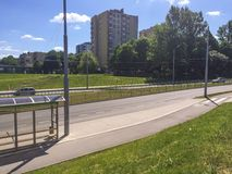 Взгляд дороги города Стоковая Фотография