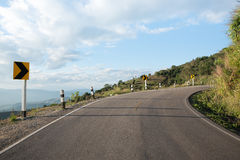 Взгляд дороги на горе стоковое фото rf