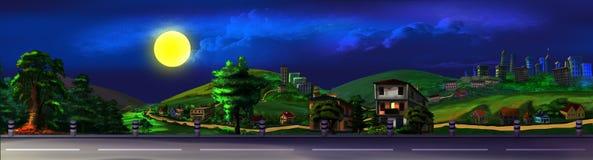 Взгляд дороги на ноче бесплатная иллюстрация