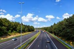 Взгляд дорог в Doorwerth Нидерландах С 139.295 km  Стоковые Изображения RF
