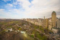 Взгляд осени Central Park, Манхаттана, Нью-Йорка Стоковая Фотография