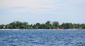 Взгляд острова воздуха Gili в Lombok, Индонезии стоковые изображения rf