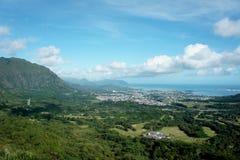 Взгляд острова в Тихом океане Стоковые Фото