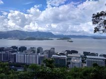 Взгляд острова Гонконга от китайского университета Гонконга Стоковые Фото