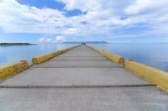 Взгляд острова от дока Стоковые Изображения