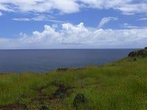 Взгляд острова пасхи Стоковое фото RF