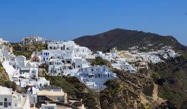 Взгляд острова Santorini - Греции Стоковая Фотография