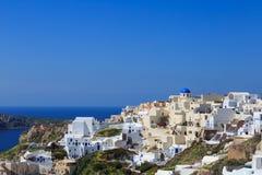 Взгляд острова Santorini - Греции Стоковые Изображения RF
