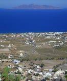 Взгляд острова Santorini сценарный Стоковое Фото