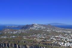 Взгляд острова Santorini сценарный Стоковые Фотографии RF