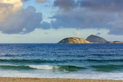 Взгляд островов Cagarras стоковые фотографии rf