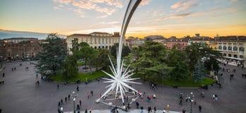Взгляд от арены бюстгальтера аркады Вероны Стоковая Фотография