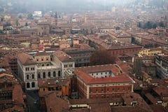 Взгляд от башни исторического центра болонья Италия Стоковая Фотография RF