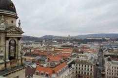 Взгляд от башни колокола базилики St Stephen в Будапешт Стоковая Фотография RF