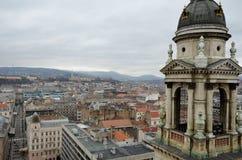Взгляд от башни колокола базилики St Stephen в Будапешт Стоковые Фото