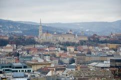 Взгляд от башни колокола базилики St Stephen в Будапешт Стоковые Фотографии RF
