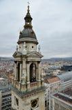 Взгляд от башни колокола базилики St Stephen в Будапешт Стоковое Изображение RF