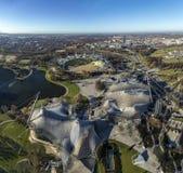 Взгляд от башни Олимпии, Мюнхена, Германии Стоковая Фотография RF