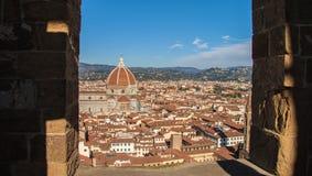 Взгляд от башни Arnolfo, Флоренции Стоковая Фотография RF
