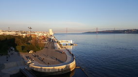 Взгляд от башни Belem, Лиссабона, Португалии Стоковое Фото