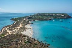 Взгляд от башни Tharros, Сардинии стоковое изображение