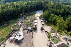 Взгляд от башни u Jakuba бдительности, чехии Стоковое Изображение RF