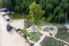 Взгляд от башни u Jakuba бдительности, чехии Стоковая Фотография