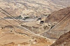 Взгляд от вагона подвесной дороги Masada Стоковое фото RF