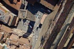 Взгляд от верхней части башни Asinelli Стоковое Изображение