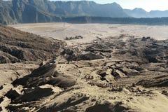 Взгляд от верхней части, East Java вулкана Bromo, Индонезия Стоковые Фото
