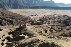 Взгляд от верхней части, East Java вулкана Bromo, Индонезия стоковое фото rf