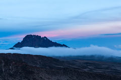 Взгляд от верхней части Mount Kilimanjaro Стоковая Фотография