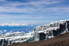 Взгляд от верхней части Mount Kilimanjaro Стоковые Изображения