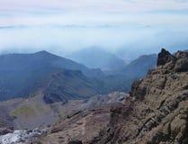 Взгляд от вершины гребня nevado Сьерры в chile Стоковые Изображения RF