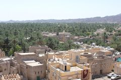 Взгляд от вершины замка форта Nizwa, Омана Стоковое Изображение RF