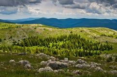 Взгляд от вершины красивой горы Beljanica Стоковые Изображения