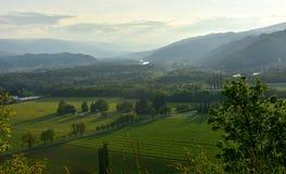 Взгляд от вершины холма Стоковое Изображение RF