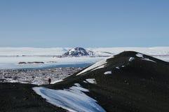 Взгляд от вулкана Hverfjall Стоковое Изображение RF