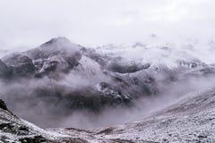 Взгляд от высокого лагеря, Annapurna Стоковые Изображения RF