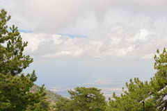 Взгляд от высокого фото mountains Стоковая Фотография