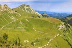 Взгляд от горного пика Hochplatte, Австрия Стоковое Изображение RF