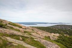 Взгляд от горы Кадиллака в национальном парке Acadia стоковое фото