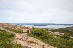 Взгляд от горы Кадиллака в национальном парке Acadia Стоковые Изображения