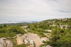 Взгляд от горы Кадиллака в национальном парке Acadia Стоковое Изображение