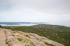 Взгляд от горы Кадиллака в национальном парке Acadia Стоковое фото RF
