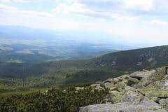 Взгляд от горы Стоковые Изображения RF