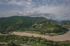 Взгляд от горы Стоковое фото RF