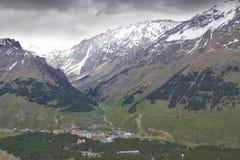 Взгляд от горы Cheget Стоковая Фотография
